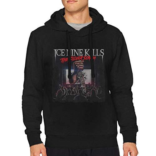 DOMINICHIGGINS Men's Long Sleeve Hoodie Mans Ice Nine Kills Sweatshirt Black 3XL