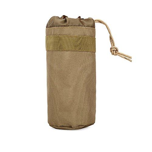 Petite Bouteille d'eau Sac pochette sport en extérieur tactique Accessoire de camping voyage en nylon unisexe ruifu, Kaki