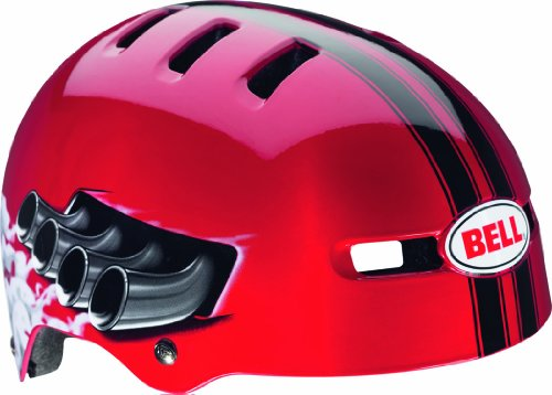 Bell Kinder Fahrradhelm Fraction, Red Daytona, 48-53