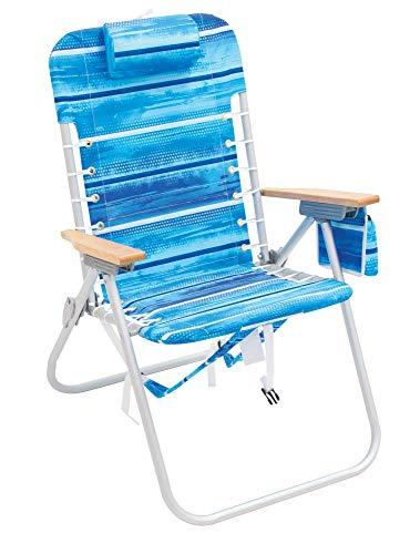 Rio Gear 4-Position Hi-Boy Backpack Beach Chair - Stripe