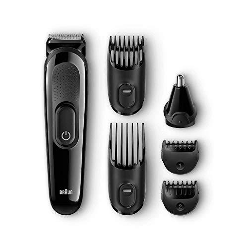 Braun MGK3020 Set de Afeitado Multifunción con Recortadora Barba y Cabello 6 en 1, Corta Barbas Hombre 6 en 1