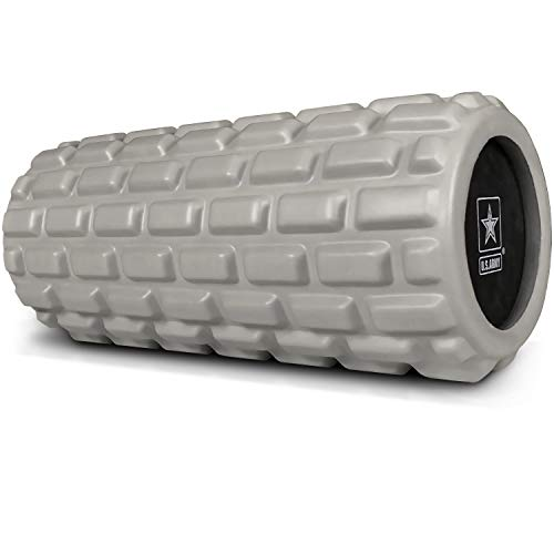 U.S. Army Foam Roller - Deep Tissue Massage Roller for Trigger Point Release on Muscles - Medium Green