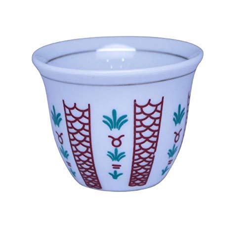 Turkish Arabic Coffee Cups Gawa Set of 12 Traditional Design Cups 3 oz
