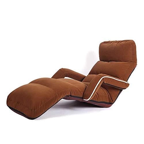 BLWX LY-rug- en zitkussen, lounge, slaapbank met armleuningen, klap, instelbare Start Faul vloerkussen, stoel, meditatie leesstoel voor volwassenen, 70