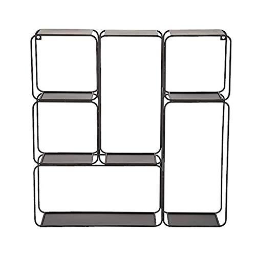Clas Ohlson Modern Scandi Style Black Metal Cube Floating Shelf Wall Unit 57 x 57 x 13 cm