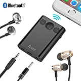 iLuv (i111BT) 2-Way Bluetooth Stereo Audio Receiver with Splitter Adapter; Features Dual Volume & Mute Control, Built-in Mic for Hands Free Calls and Supports Siri & Google Assistant Voice Command