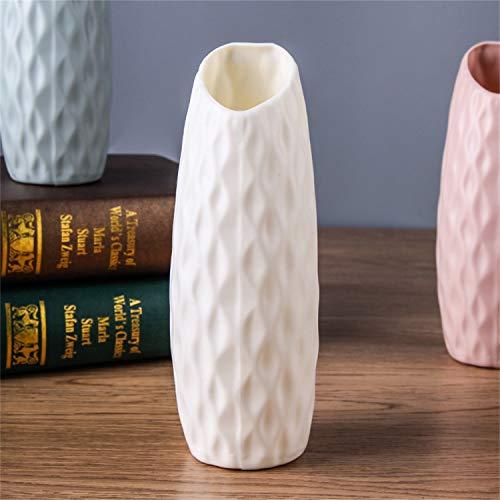 Jimmkey Vaso da Fiori Decorativo in Stile Moderno, per Decorazione della casa, Soggiorno, centrotavola ed Eventi,Contenitore per la Disposizione dei Fiori del Vaso di Origami Geometrico (Bianca)