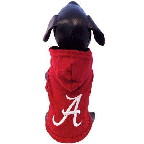 NCAA Alabama Crimson Tide Collegiate Cotton Lycra Hooded Dog Shirt (Team Color, X-Large)