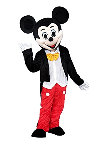 Mickey Mouse Adult Halloween Mascot Costume Fancy Dress Cosplay Outfit