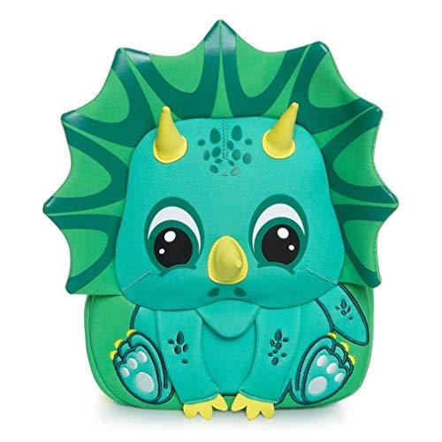 Cocomilo Rucksack, Schule, Kinder, Baby, Kindergarten, Mädchen, Jungen, niedlicher Rucksack mit Sicherheitsgurten Dinosaurier-Grün S S