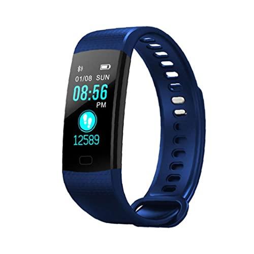 Durable Dauerhafte Smart Watch-Band-Tracker-Uhr Y5 wasserdichte Smart Armbanduhr Fitness Tracker Blau