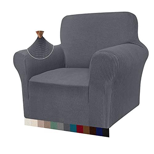 Granbest - Funda de sofá de Alta Elasticidad, diseño Moderno, Jacquard, para el salón, para Perros y Mascotas (1 Plaza, Gris)