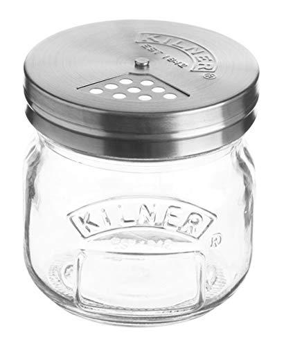 Kilner Gläschen mit Drehverschluss Streuer, Glas, Transparent, 0.25L