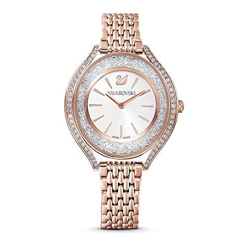 Swarovski Damen Uhr 5519459 Crystalline Aura, Metallarmband, roséfarben, rosé vergoldetes PVD-Finish