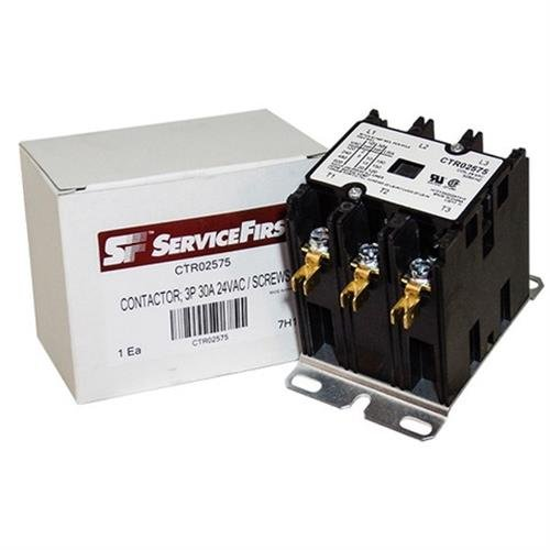 Trane/American Standard OEM Contactor - CTR02575 / CTR-2575-30 Amp / 3-Pole / 24V Coil