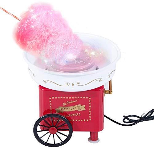 GWLGWL Cotton Candy Macchina per Zucchero Filato Cotton Candy, Uttalizare Regolare Zucchero o Caramelle Senza Zucchero, Festa Compleanni Bambini ø 30 x 30 cm 500W, Colore Multiplo