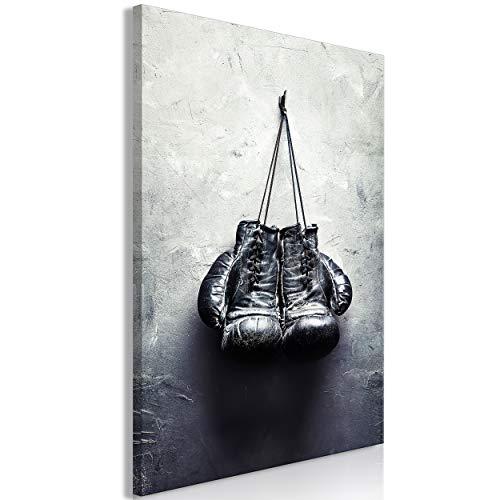 decomonkey Bilder Boxhandschuhe 40x60 cm 1 Teilig Leinwandbilder Bild auf Leinwand Vlies Wandbild Kunstdruck Wanddeko Wand Wohnzimmer Wanddekoration Deko Sport