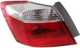 Tail Light for Honda Accord 13-15 Left Side Outer Assembly EX/LX/Sport Models Sedan