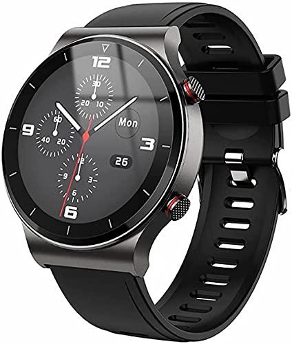 wyingj Reloj inteligente de los hombres del negocio del reloj de Bluetooth de la llamada del reproductor de música del reloj para Android E-C