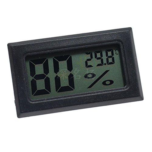Pinzhi LCD Afficher Thermom/ètre Int/égr/é Temp/érature Hygrom/ètre Num/érique Rond