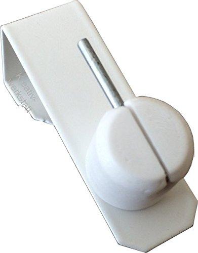 4x Dekohaken24–Ganchos para ventanas color blanco para sus ventanas o para barras de poner su–Visillos (12–20mm universal