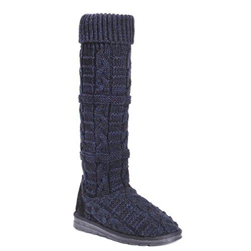 MUK LUKS Damen Women's Shelly Boots-Oxford modischer Stiefel, 39.5 EU