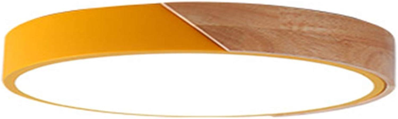 OOFAY Lights Moderne LED-Deckenleuchte-minimalistische Kunst-runde hlzerne Acryldeckenleuchten mit ebenem Berg für Wohnzimmer,WeißLight,50cm