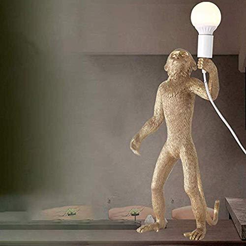 MJY Statues Résine Lampe Singe Lampe Statues Résine Lampe Résine + Support Lumière Salon Chambre Restaurant Chambre Studio Convient, Or gfhdfgsdfsd MJY/Gold.