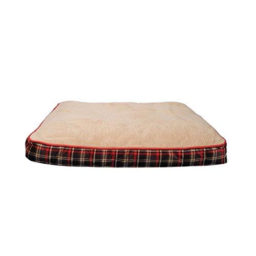 Dogit Strandmatten Scottish XL, 71x 91cm, beige und rot, beige und rot