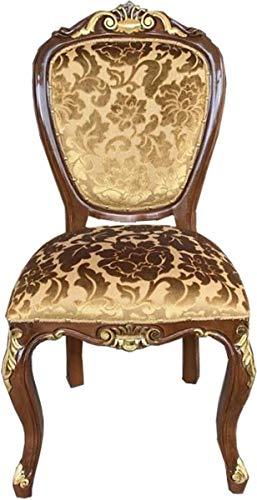Casa Padrino Silla de Comedor de Lujo barroca, diseño Dorado/Aspecto Antiguo marrón-Dorado - Muebl