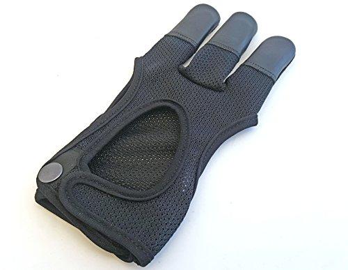 Calidad de malla guantes de tiro con arco. Guantes., color , tamaño mediano