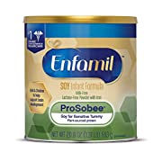 Enfamil ProSobee Soy-Based Infant Formula for Sensitive Tummies, Dairy-Free, Lactose-Free, Milk-Free, and DHA for Brain Support, Plant-Sourced Protein Powder Can, 20.9 Oz