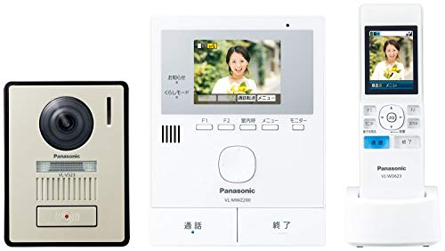パナソニック ワイヤレスモニター付き テレビドアホン LEDライト搭載 どこでもドアホン VL-SWZ200KL