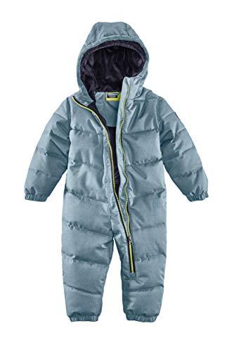 Killtec Kinder Skioverall Karter Mini - Schneeanzug mit Kapuze - 10.000 mm Wassersäule - Skianzug für Mädchen und Jungen, rauchblau, 74/80, 34238-000