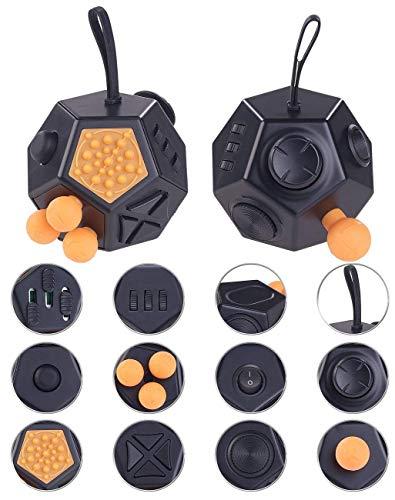 Fidget Cubes Anti-Stress-Würfel mit 12 Funktionen Gegen Stress,Nervosität und Wut