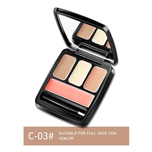 ColorfulLaVie Palette d'anticernes 4 couleurs, Couvrir l'acné même la couleur de la peau anti-cernes crème anti-cernes étanche anti-taches