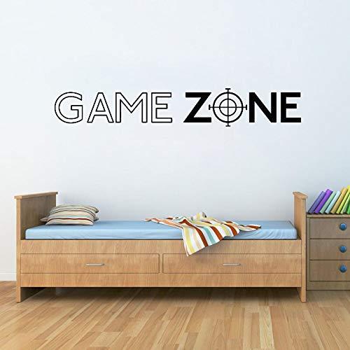 Spiel Zone Spielen PS3 PS4 Zitat Wandkunst Aufkleber Decals Tür Dekor Dekoration Aufkleber Vinyl Wandbild Gamer Aufkleber Schlafzimmer 57X19CM