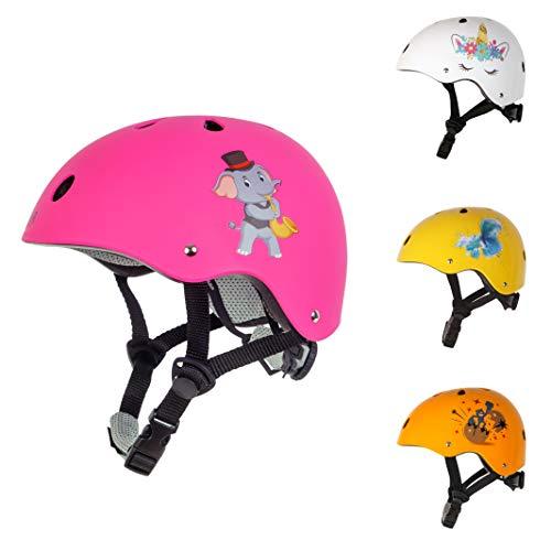 MouR Kinder Fahrradhelm (52-56 cm) Junge und Mädchen (Pink, S)