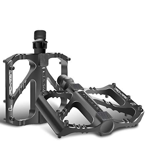 Sugelary Pedales Bicicleta, Pedales Bicicleta Montaña de Aleación de Aluminio Pedal DU 9/16' Pulgadas con Antideslizante Pedal para BMX Bicicleta de Montaña