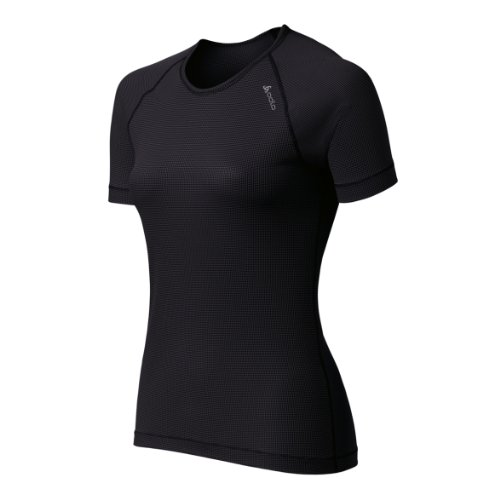 Odlo Cubic Light T-Shirt lger col rond manches courtes femme Ebony Grey/Black Taille Fabricant : S