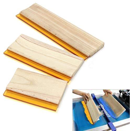 Wearproof Silk Siebdruck Rakel,Klinge Holzgriff Tintenschaber Scratch Board Werkzeuge 16 Cm 24 Cm 33 Cm 3 Stück/Los