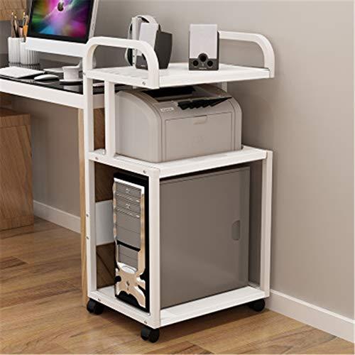 CuteLife Soporte de Impresora Computadora de Escritorio mainframe estantería estantería de Pisos móviles Multi-Capa de chasis integrada Mesa de Almacenamiento para Horno Microondas