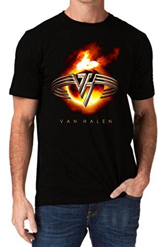 Van Halen Band Eddie Fire Burn Logo T-shirt, S to XXL