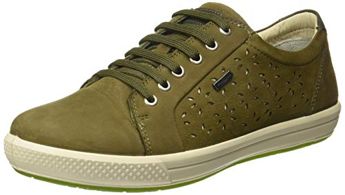 Woodland Women Ls 2563117wsolive Green6 Olive Green Leather Moccasins-6 UK (LS 2563117WS)