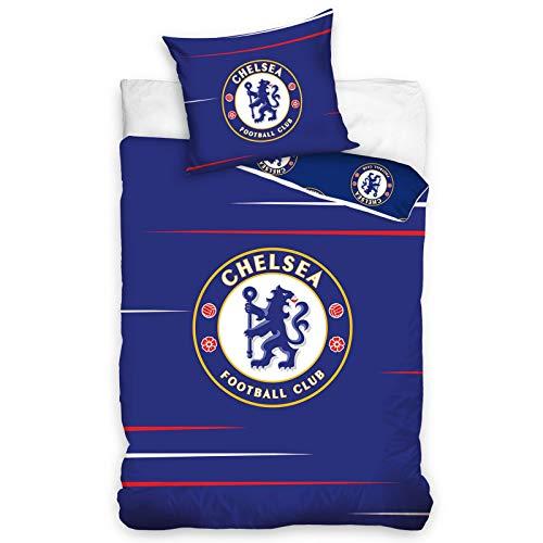 Chelsea FC Fußball Bettwäsche CFC185002 Baumwolle 140x200 cm + 70x80 cm