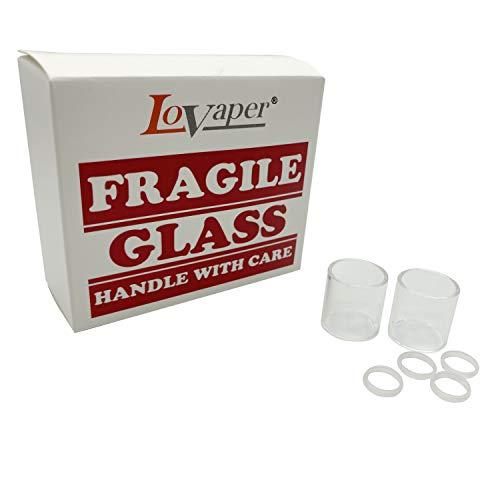 Original Lovaper Glass 2ml- tubi di vetro Pyrex - 2 pezzi in confezione, Questo prodotto non contiene nicotina o tabacco