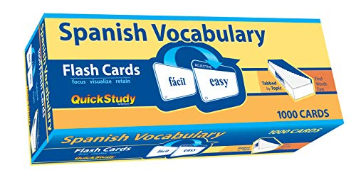 Compare Textbook Prices for Spanish Vocabulary Quick Study Bilingual Edition ISBN 9781423221661 by BarCharts, Inc.