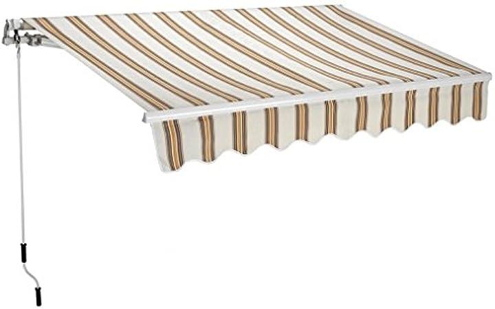 Tenda da sole barra quadra 250x200 cm riga gialla T1372011-B