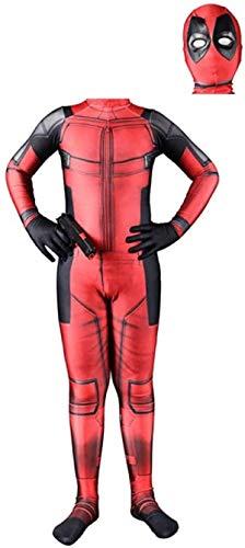 Disfraz de Deadpool Nios Adultos Estilo 3D Vengadores Mono Superhroe Body elstico Carnaval de Halloween Fiesta de cosplay Vestido de lujo Lycra Impresin 3D Pelcula Accesorios de disfraces