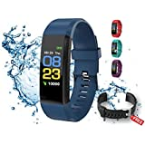 ALLRounderz ID115 Smart Band Fitness Watch, Waterproof Watch, Sleep/Step/Heart Rate/Blood Pressure/Calorie Counter, Free Strap, Men, Women, Kids, Elderly, Couple